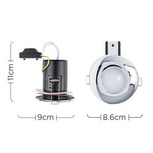 Picture of IP65 DOWNLIGHT  DOMED POLISH CHR 65MM CUT OUT SHOWER SUN