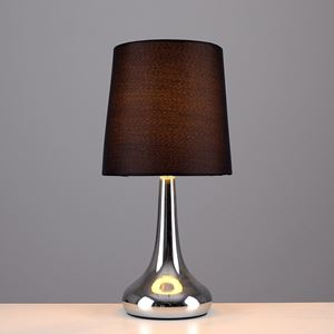 Picture of PAIR TEAR DROP TOUCH TABLE LAMPS CHROME/BLACK