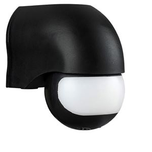 Picture of 180 DEGREE PIR BLACK IP44 1200W