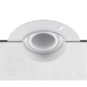 Picture of PLASTER IN DOWNLIGHT ANTI-GLARE GU10 ADJUST CUT OUT 80MM HEIGHT. 140MM