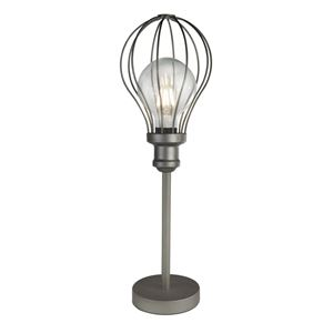 Picture of BALLOON CAGE TABLE LAMP METAL PEWTER