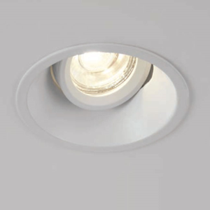 Picture of SLIM TRIM GU10 TILT 40 DEG  DOWNLIGHT DIECAST MATT WHITE  84MM CUT OUT 43MM DEPTH PROJECT COLLECTION/SEARCHLIGHT