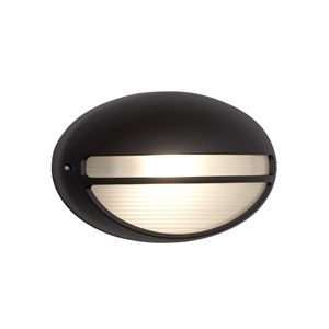 Picture of 5544BK Outdoor Wall Light Black/Acid Glass OVAL BULKHEAD/PORCH LIGHT 100W SEARCHLIGHT