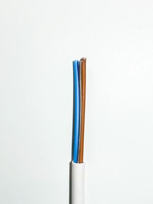 Picture of 2.5mm Fire Cable 2core + Earth White