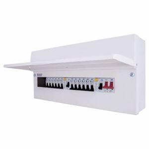 Picture of CFUDP16616-01 16WAY METAL BOARD 1 X 63A 1X63A RCD + 12 MCBS AMENDMENT 3