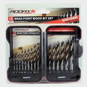 Picture of Brad Point Wood Bit Set 15pc ADS