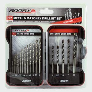 Picture of Metal & Masonary Drill Bit Set 17pc ADS