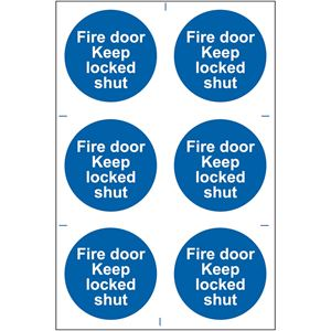 Picture of Fire Door Keep Locked Shut Safety Sign 200x300   0153