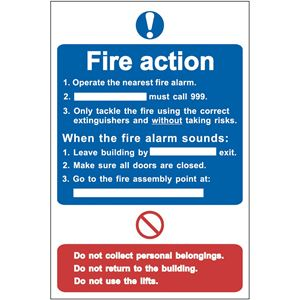 Picture of Fire Action Procedure