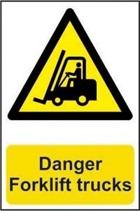 Picture of Danger Forklift Trucks