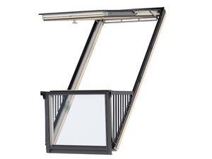 Picture of Velux Cabrio Roof Balcony White Painted 94x252 Including flashings for slate up to 8mm thick.PK19
