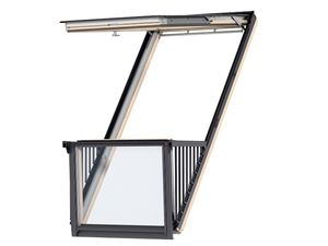 Picture of Velux Cabrio Roof Balcony White Painted 78x252 Including flashings for slate up to 8mm thick.MK19