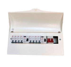 Picture of 10WAY METAL BOARD  WYLEX2 x 80 amp rcd,8 mcbs 3 x 6  1 x 16  4 x 32 2 x blanks