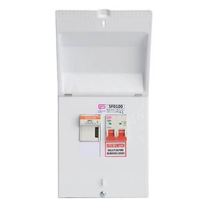 Picture of SF0100100amp Switchfuse metalcladC/W 3 FUSESFUSEBOX