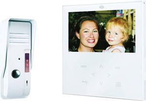 """Picture of HANDSFREE 7"""" COLOUR VIDEO DOOR ENTRYNIGHT VISION C/W 10MTR CABLE METAL BELL PUSHEXTENDS UP TO 30 MTR"""