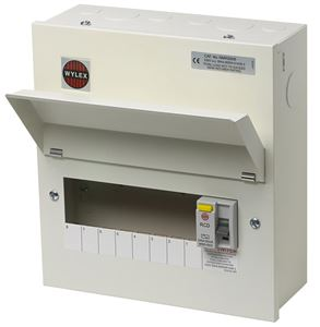 Picture of 8way consumer unit ALL METAL C/W 100A RCDAMENDMENT 3