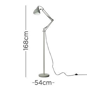 Picture of NOYA ADJUSTABLE FLOOR LAMP ANGLEPOISE DESIGN E27GREYSUN